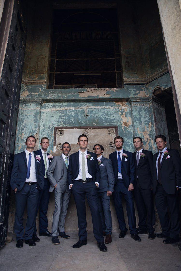 Navy Suit Groom Bright Fun Pink Peonies Wedding http://assassynation.co.uk/