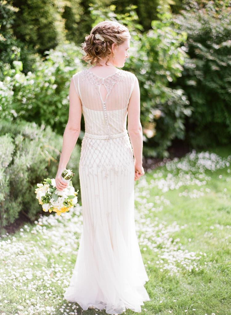 Pronovias Embellished Sequin Dress Gown Bride Bridal Classic Spring Yellow Wedding http://natashahurley.com/