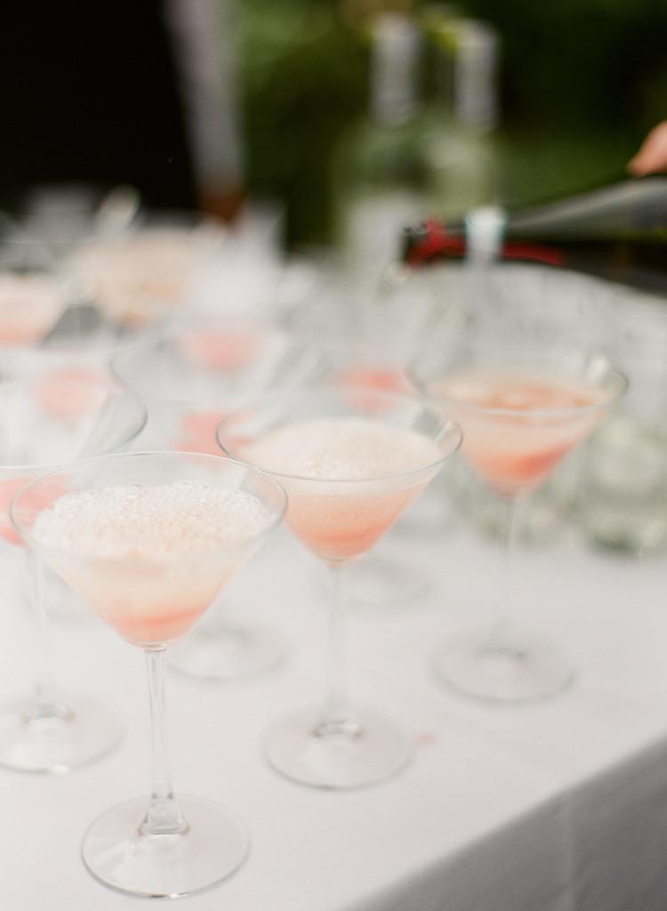 Pink Cocktails Classic Spring Yellow Wedding http://natashahurley.com/