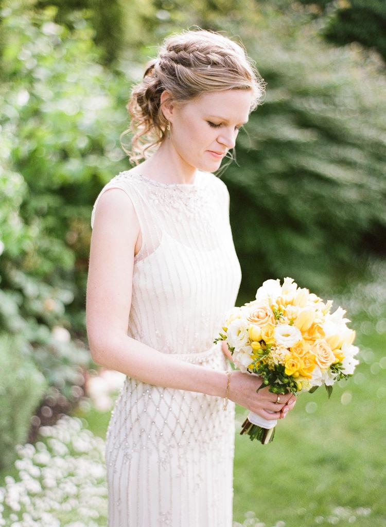 Plait Braid Bride Bridal Hair Style Classic Spring Yellow Wedding http://natashahurley.com/