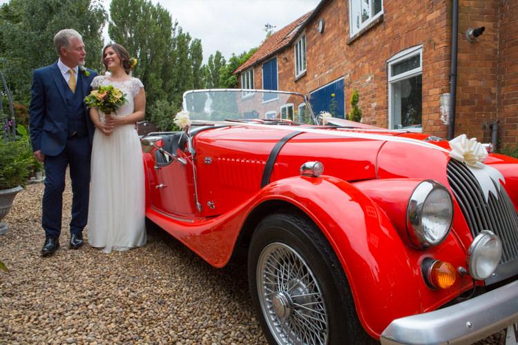 Classic Car Red Convertable Country Fete Garden Festival Wedding http://sharoncooper.co.uk/