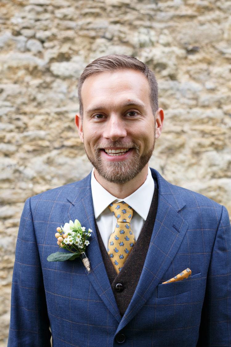 Check Jacket Mustard Tie Beard Groom Country Fete Garden Festival Wedding http://sharoncooper.co.uk/