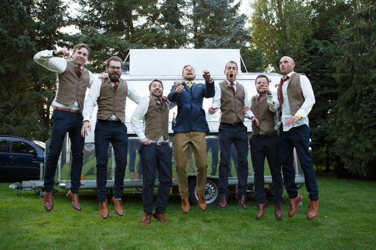 Groomsmen Mismatched Chinos Waistcoats Country Fete Garden Festival Wedding http://sharoncooper.co.uk/