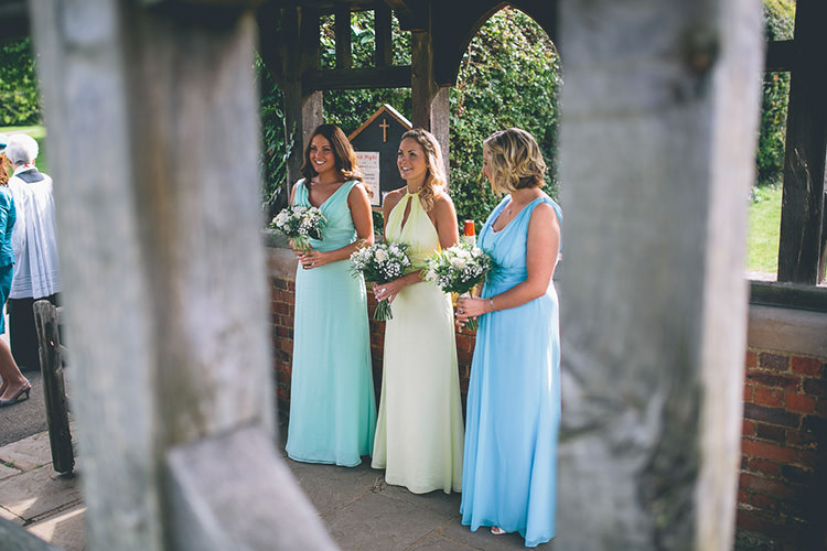 Multicolour Bridesmaid Dresses Long Origami Books Barn Wedding http://storyandcolour.co.uk/