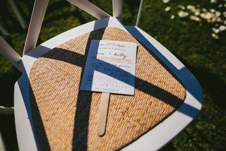 Stick Order of Service Stationery Floral Whimsical Barn Wedding Australia http://throughthewoodsweran.co.uk/