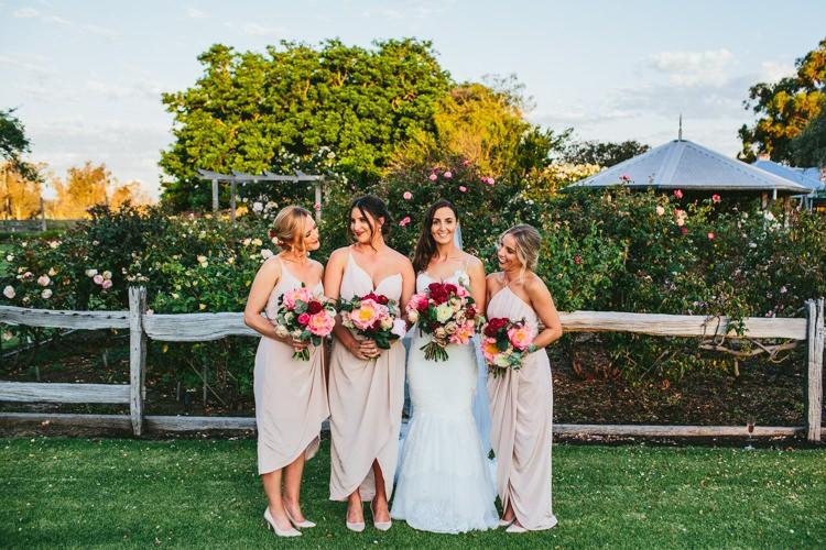 Nude Peach Dresses Bridesmaids Whimsical Barn Wedding Australia http://throughthewoodsweran.co.uk/