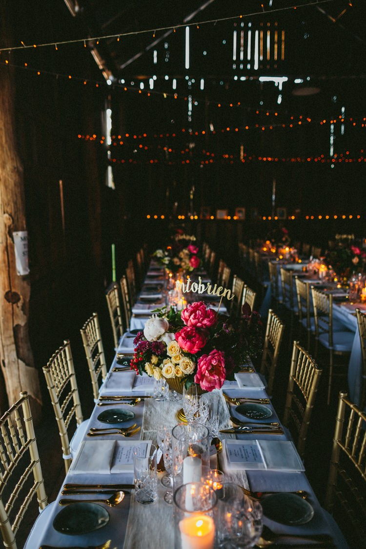 Fairy Lights Flowers Whimsical Barn Wedding Australia http://throughthewoodsweran.co.uk/