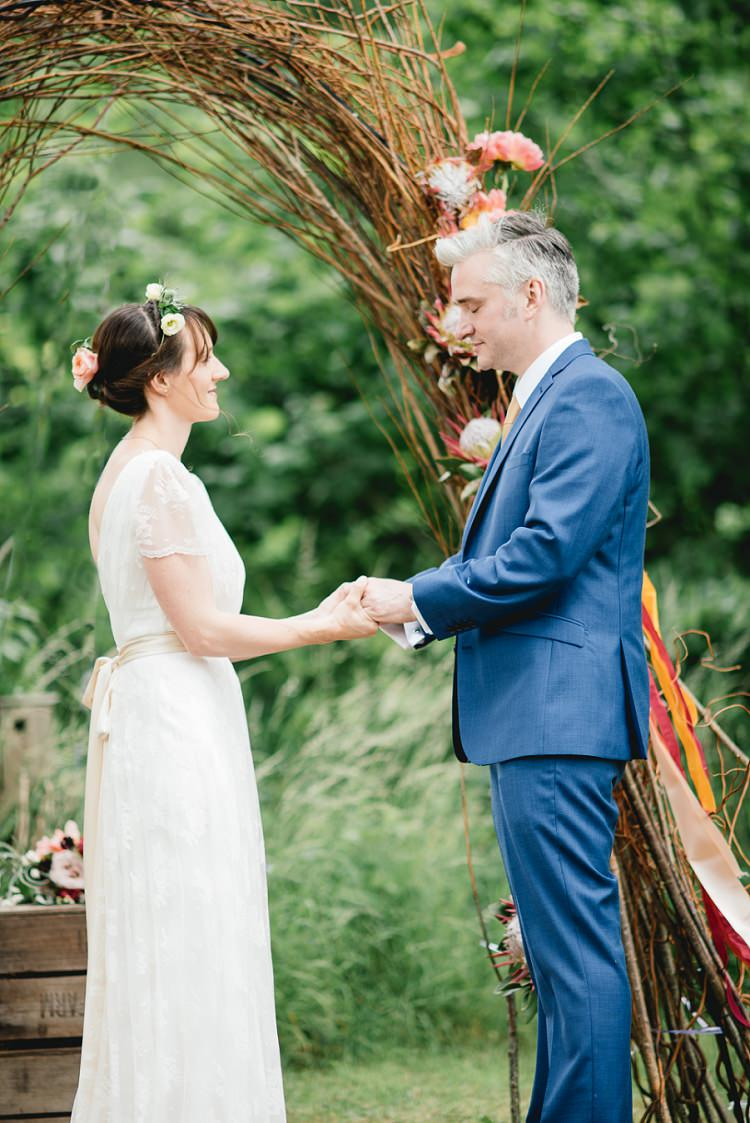 Willow Arch Backdrop Laid Back Bohemian Festival Wedding http://benjaminmathers.co.uk/