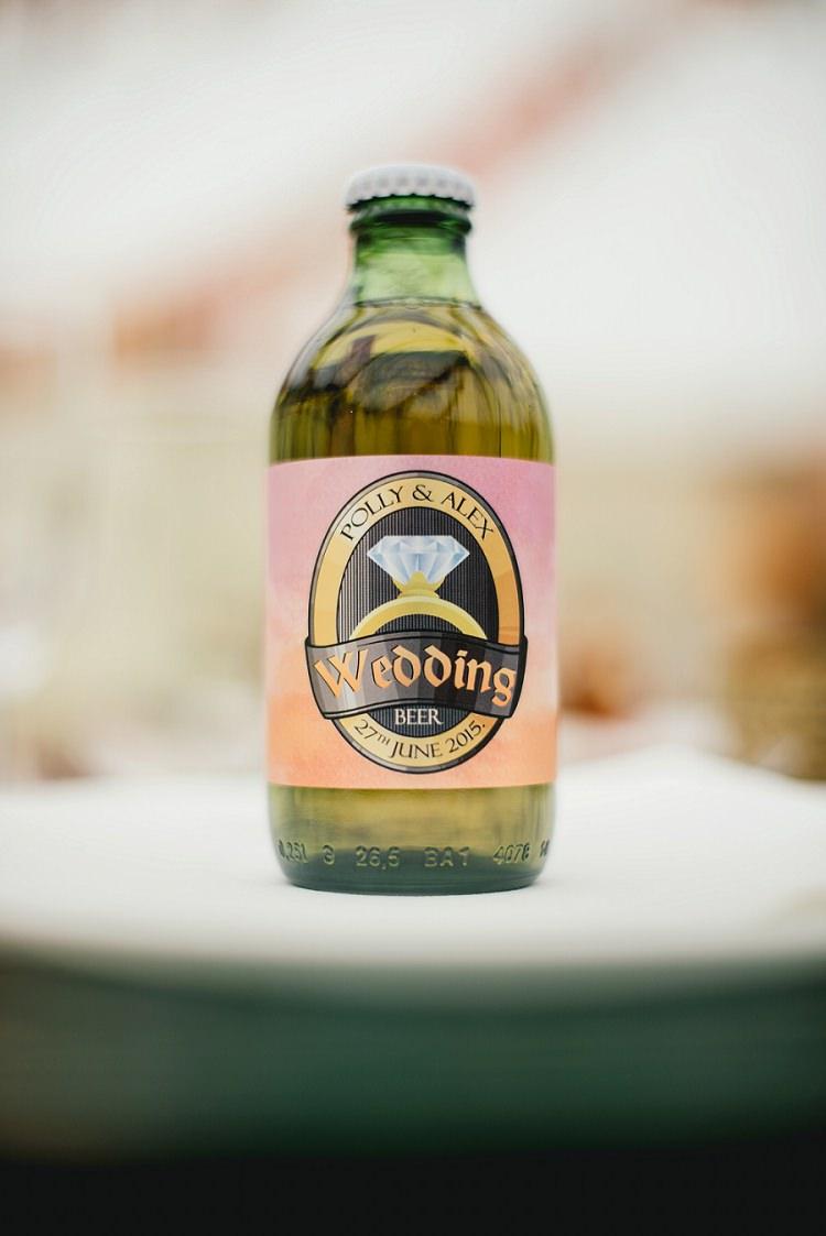 Beer Bottle Favours Personalised Laid Back Bohemian Festival Wedding http://benjaminmathers.co.uk/