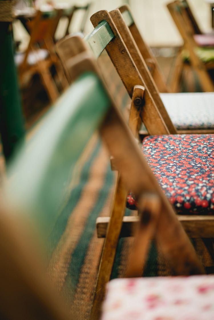 Rustic Wooden Seating Laid Back Bohemian Festival Wedding http://benjaminmathers.co.uk/