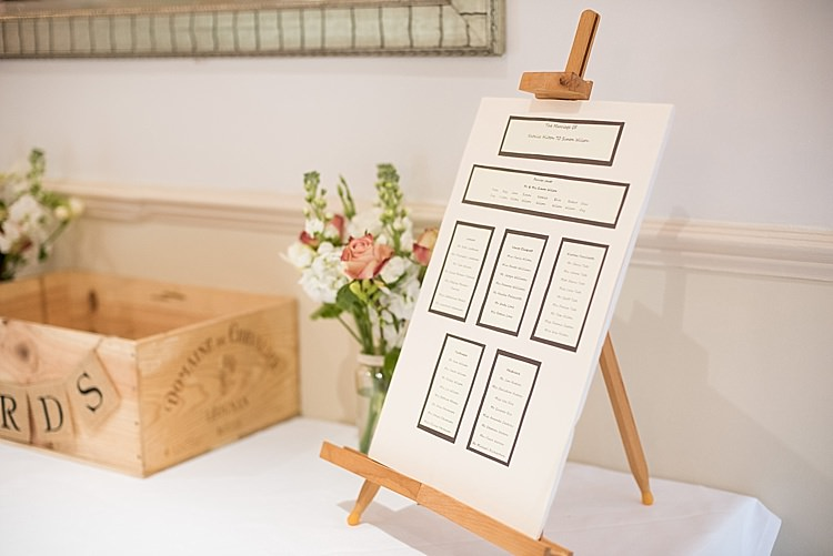 Easel Table Plan Chart Stationery Beautiful Country House Wedding http://www.fionasweddingphotography.co.uk/