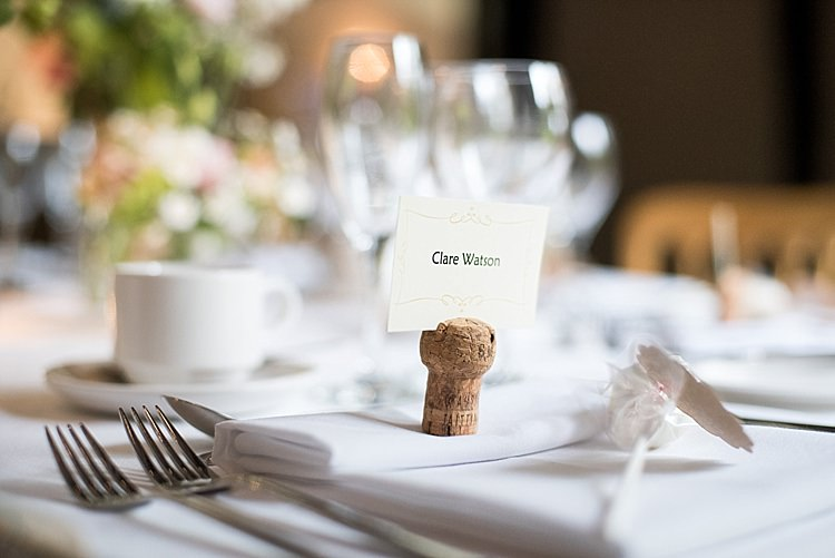 Cork Place Name Setting Beautiful Country House Wedding http://www.fionasweddingphotography.co.uk/