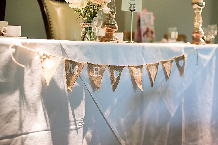 Mr Mrs Hessian Bunting Beautiful Country House Wedding http://www.fionasweddingphotography.co.uk/