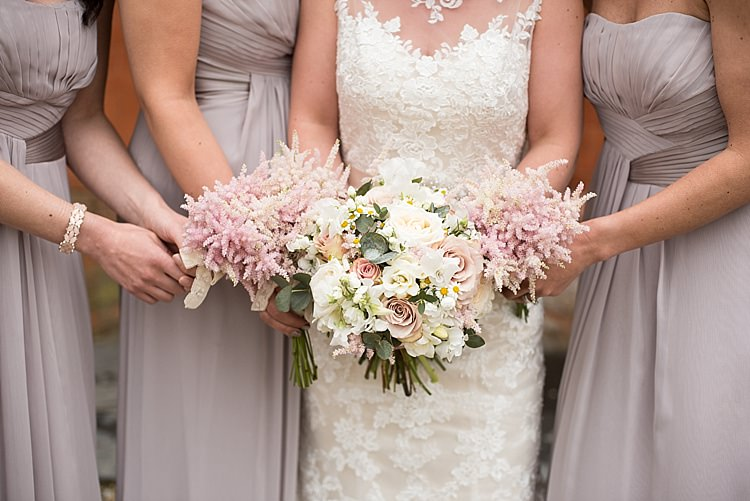 Astilbe Bouquet Flowers Bridesmaids Bride Bridal Roses Pink White Beautiful Country House Wedding http://www.fionasweddingphotography.co.uk/