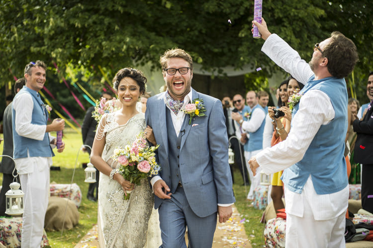 Fun Glittery Outdoor Colourful Wedding http://www.reportography.com/