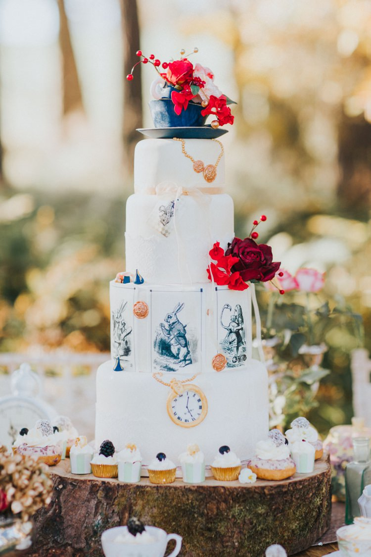 ... Cake Log Cupcakes Topper Tea Party Alice In Wonderland Wedding Ideas  Http://nataliepluck