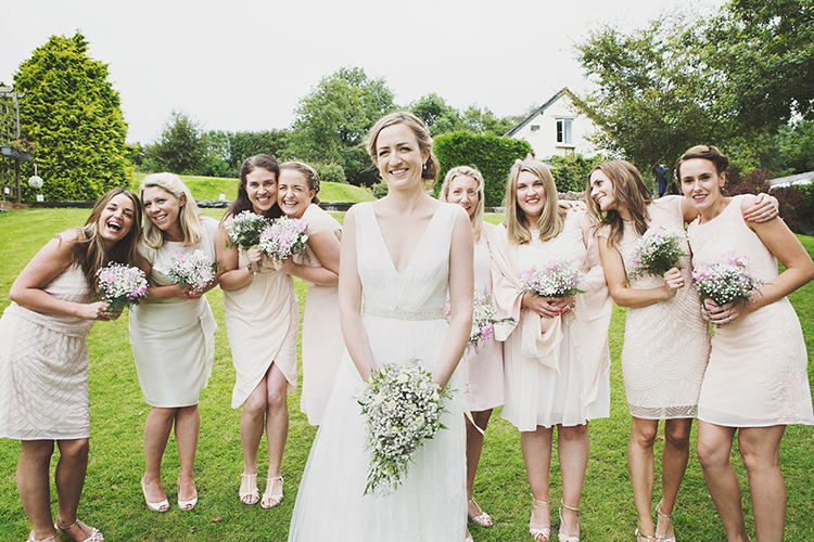 Nude White Blush Bridesmaid Dresses Mismatch Stylish Relaxed Fun Marquee Wedding http://www.bennicarolweddingphotography.com/