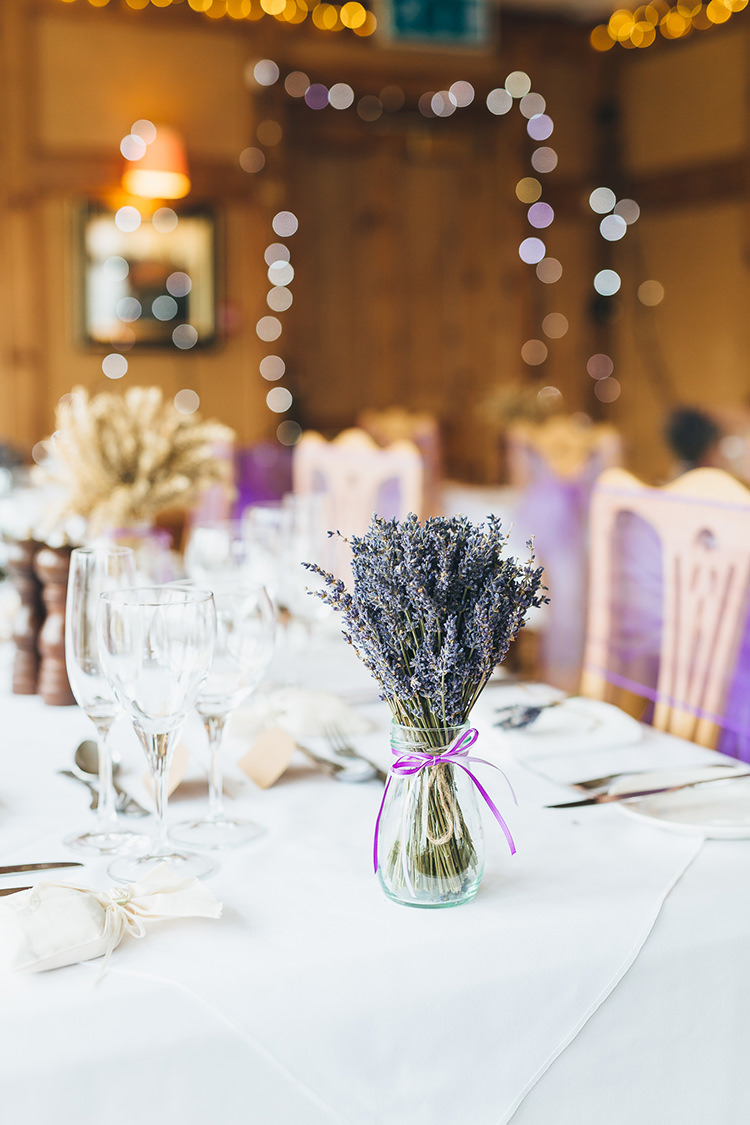 Lavender Flowers Centrepiece Intimate Outdoor Isle of Skye Wedding http://sarahbethphoto.co.uk/