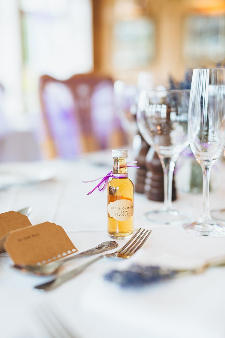 Bottle Favours Intimate Outdoor Isle of Skye Wedding http://sarahbethphoto.co.uk/