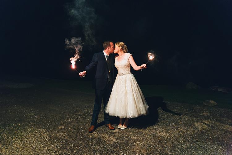 Sparklers Bride Groom Intimate Outdoor Isle of Skye Wedding http://sarahbethphoto.co.uk/
