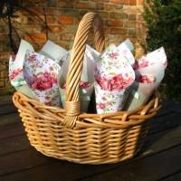 Confetti Basket. Credit- The Real Flower Petal Confetti Company