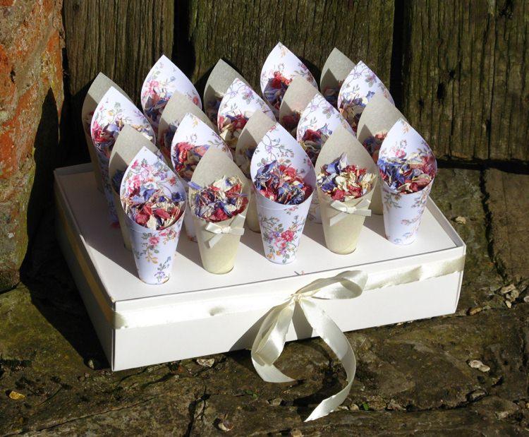 Confetti Box. Credit- The Real Flower Petal Confetti Company