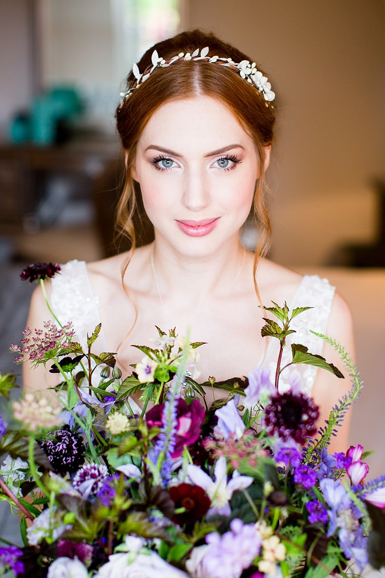 Make Up Bride Bridal Natural Ethereal Purple Wedding http://www.katherineashdown.co.uk/
