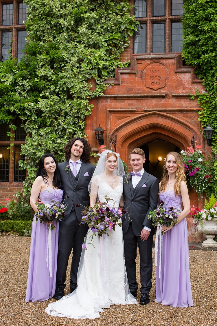 Long Lilac Bridesmaid Dresses Natural Ethereal Purple Wedding http://www.katherineashdown.co.uk/
