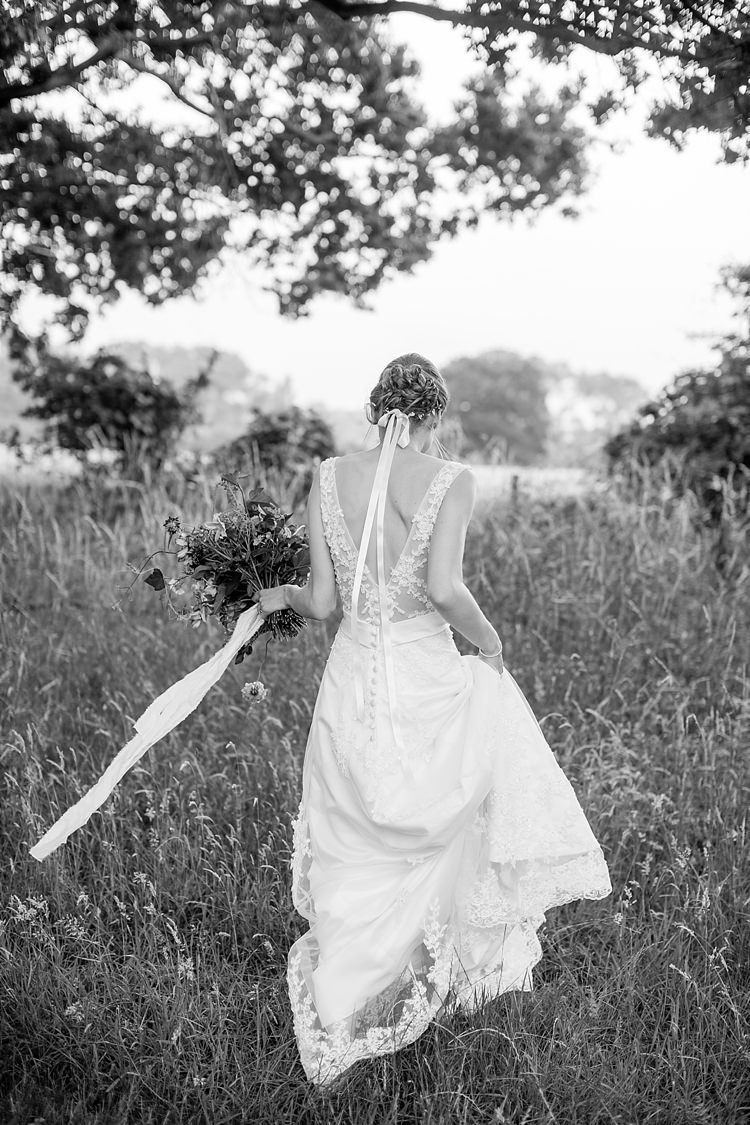 Applique Floral Gown Dress Bride Bridal Natural Ethereal Purple Wedding http://www.katherineashdown.co.uk/