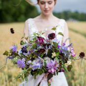 Natural & Ethereal Purple Floral Wedding