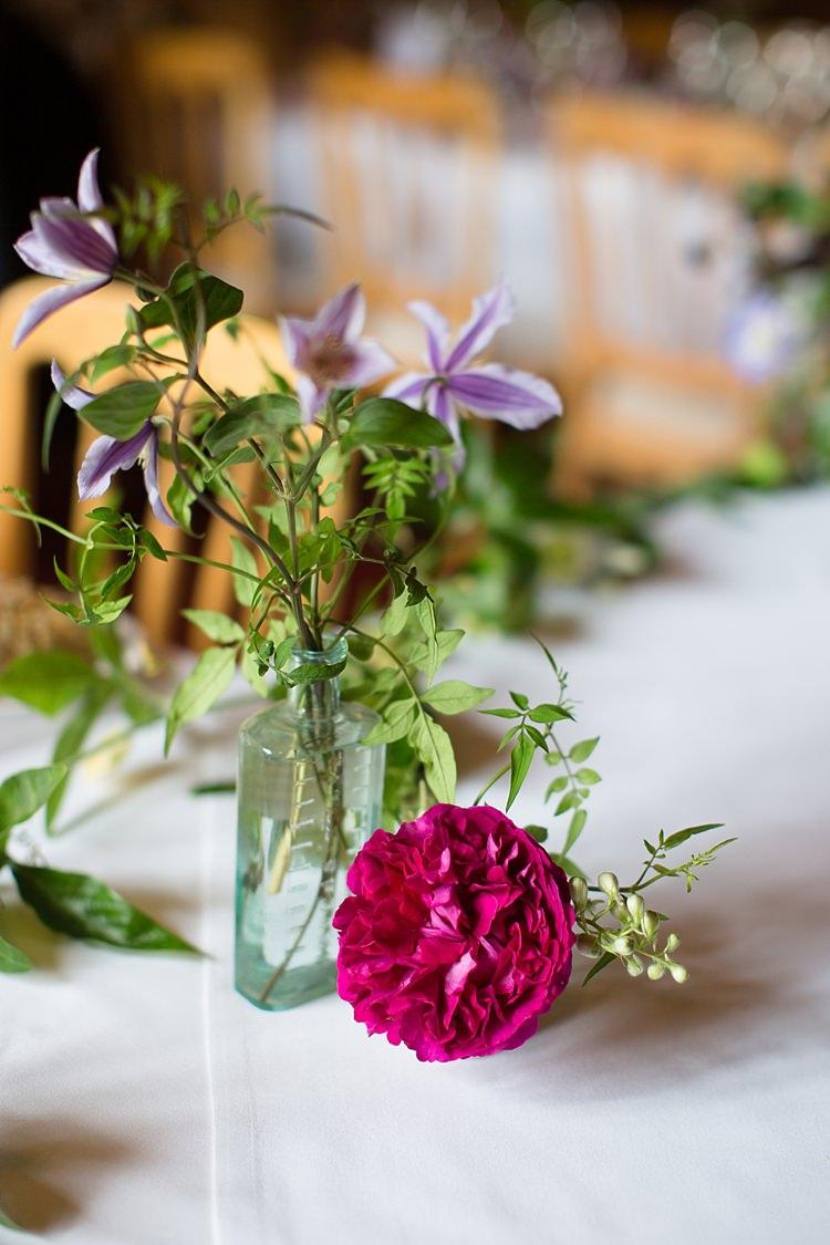 Bottle Flowers Natural Ethereal Purple Wedding http://www.katherineashdown.co.uk/