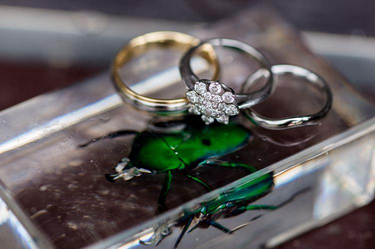 Ring Engagement Flower Band Diamond Natural Ethereal Purple Wedding http://www.katherineashdown.co.uk/