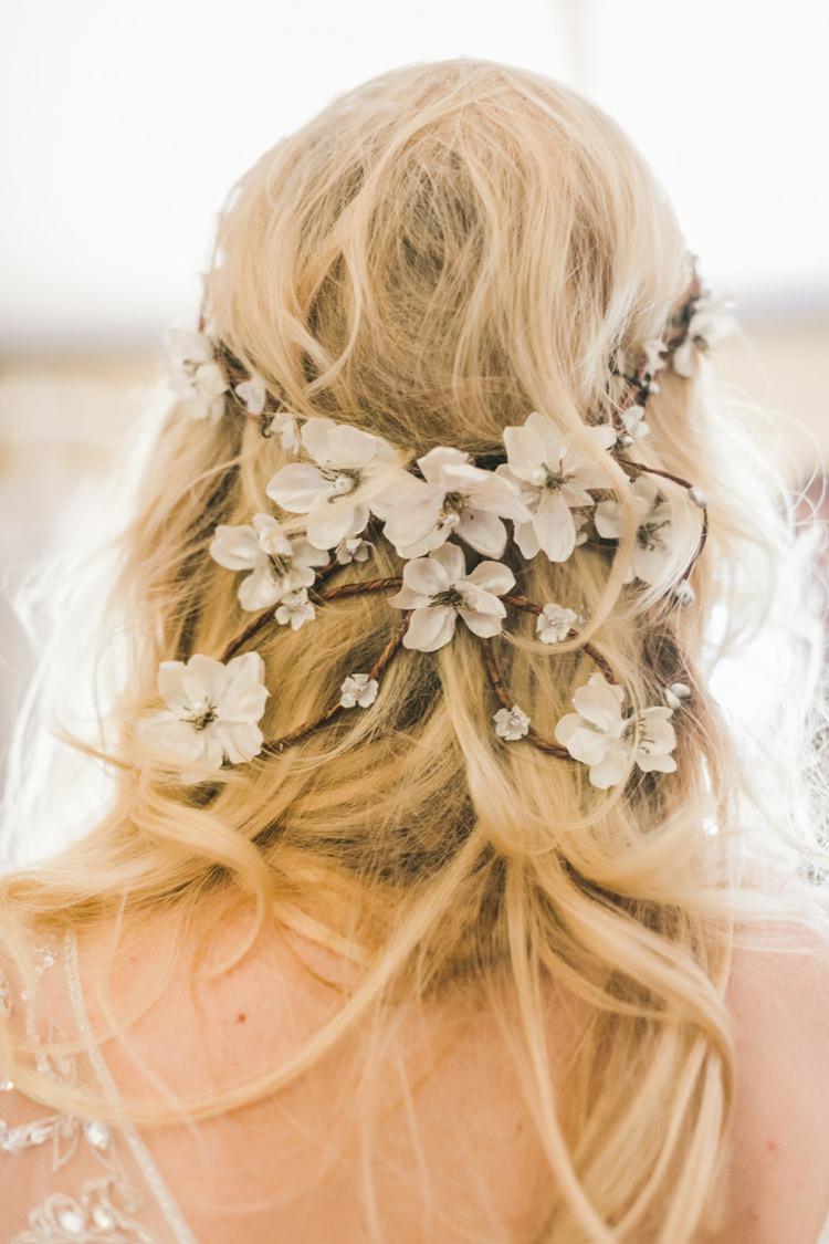 Hair Vine Style Accessory Bride Bridal Fantastical Woodland Renaissance Wedding in California http://www.milouandolin.com/