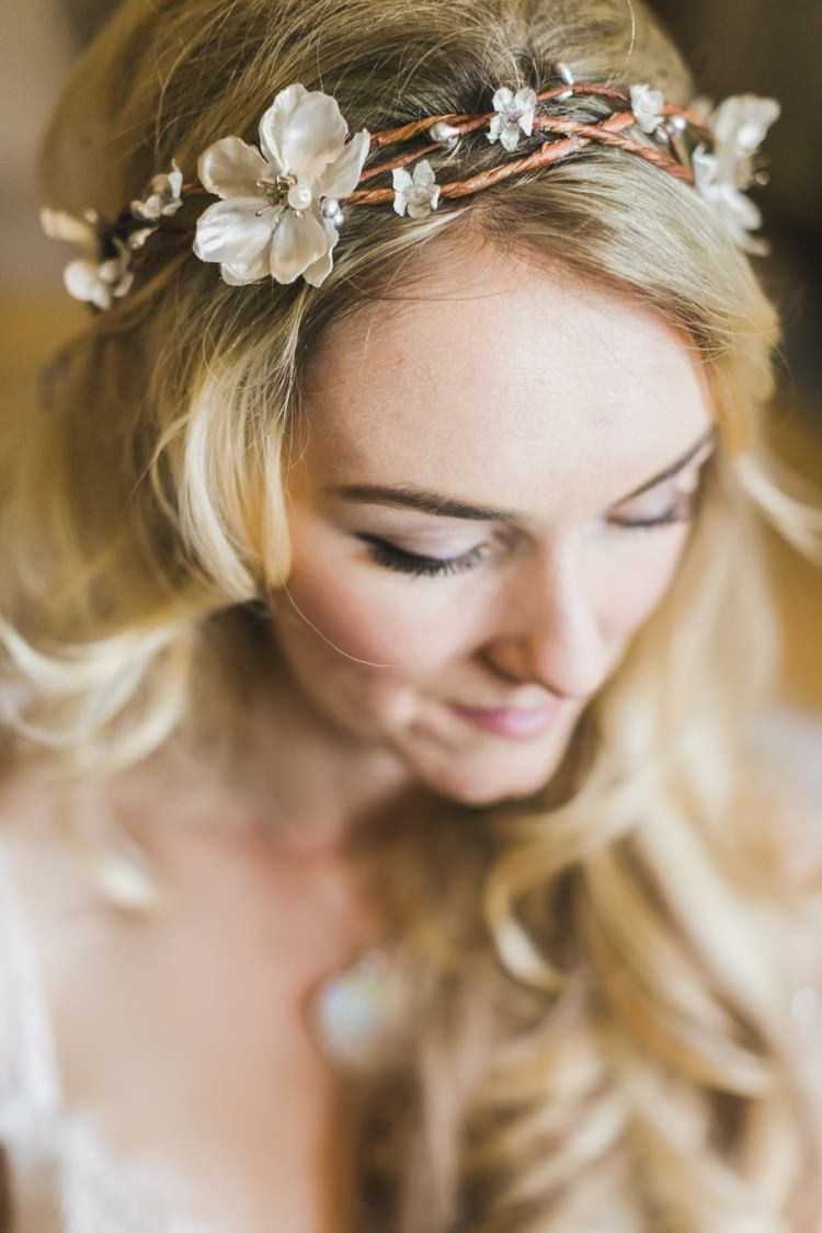 Hair Vine Bride Bridal Style Accessory Make Up Fantastical Woodland Renaissance Wedding in California http://www.milouandolin.com/
