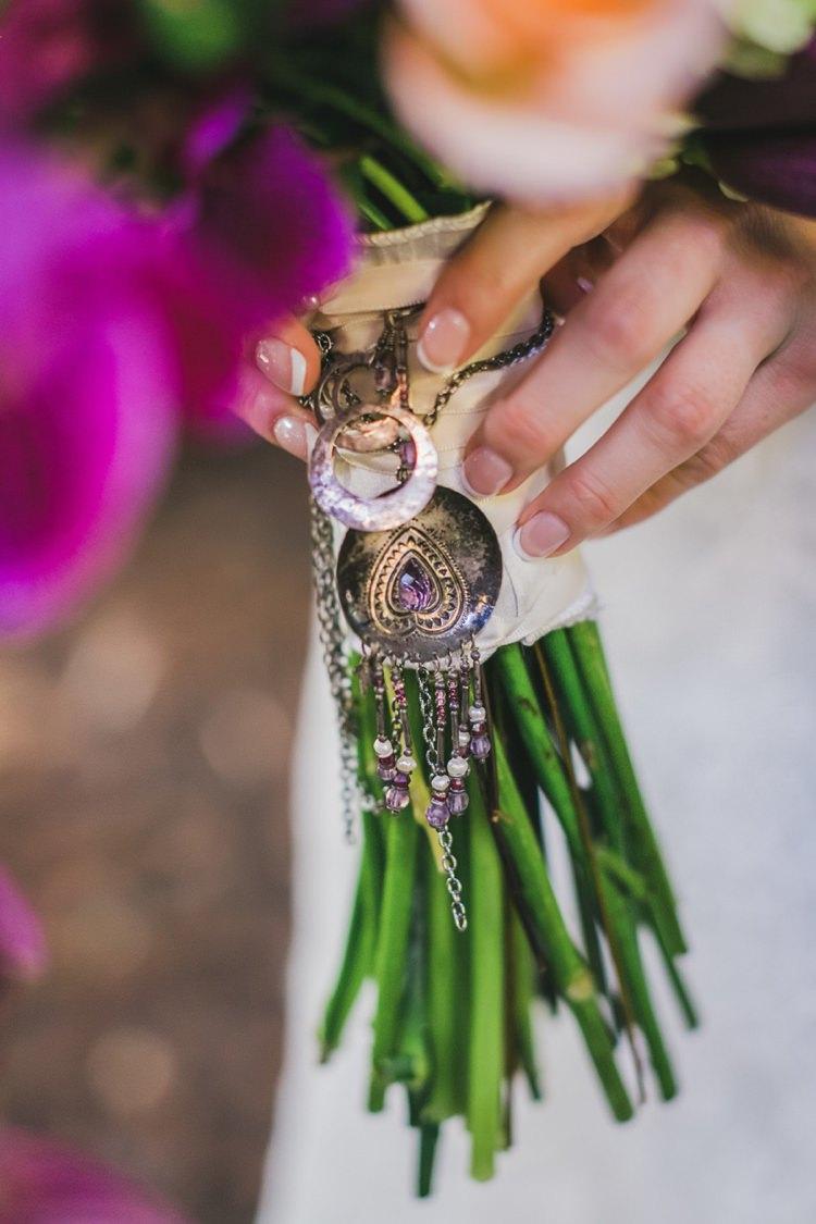 Bouquet Locket Jewellery Flowers Fantastical Woodland Renaissance Wedding in California http://www.milouandolin.com/