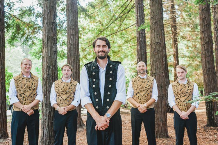 Medieval Groom Groomsmen Fantastical Woodland Renaissance Wedding in California http://www.milouandolin.com/