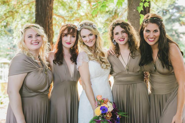 Multiway Bridesmaids Dresses Stone Fantastical Woodland Renaissance Wedding in California http://www.milouandolin.com/