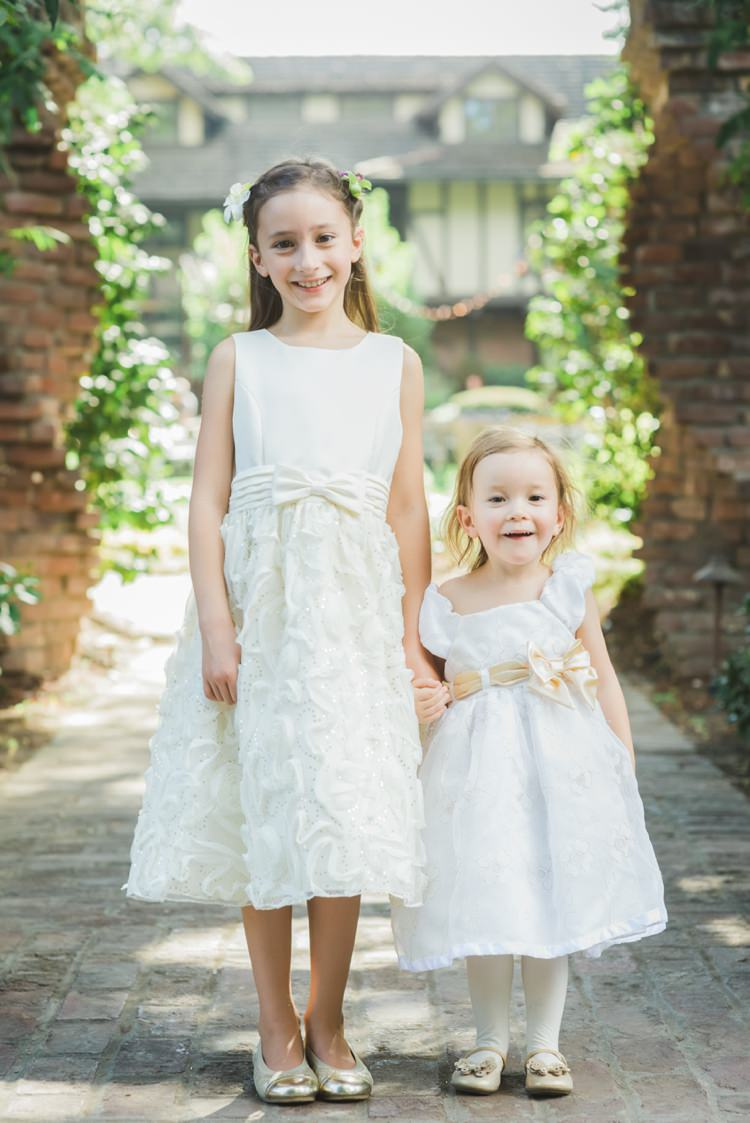 Flower Girls Bridesmaids White Dresses Fantastical Woodland Renaissance Wedding in California http://www.milouandolin.com/