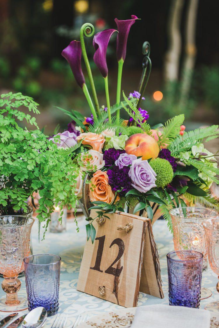 Centrepiece Flowers Decor Fantastical Woodland Renaissance Wedding in California http://www.milouandolin.com/