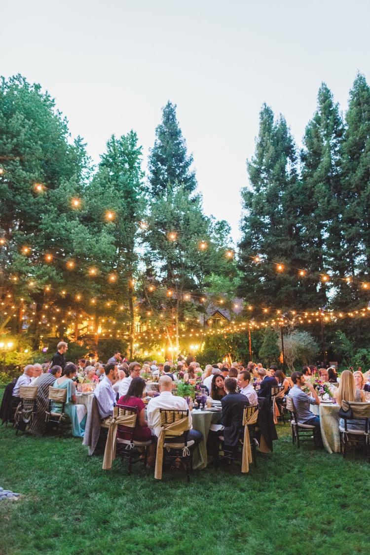 Festoon Lights Outdoor Fantastical Woodland Renaissance Wedding in California http://www.milouandolin.com/