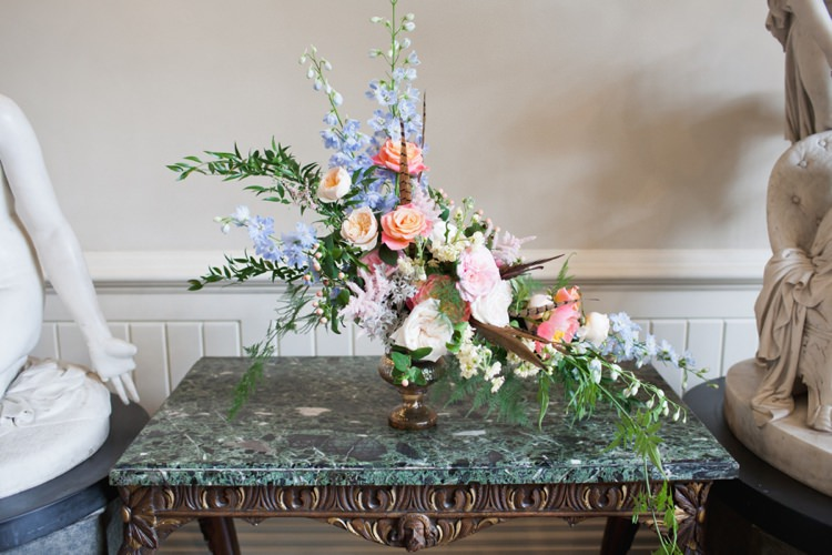 Flowers Florals Whimsical Arrangement Colourful Pastel Sequin Wedding http://www.laurapower.co.uk/
