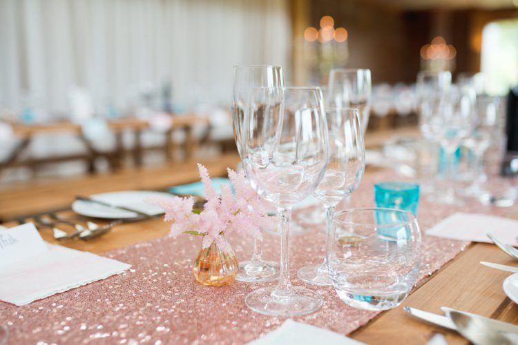 Pink Table Runner Cloth Colourful Pastel Sequin Wedding http://www.laurapower.co.uk/