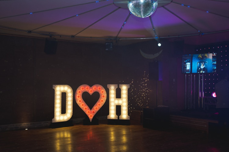 Letter Lights Colourful Pastel Sequin Wedding http://www.laurapower.co.uk/