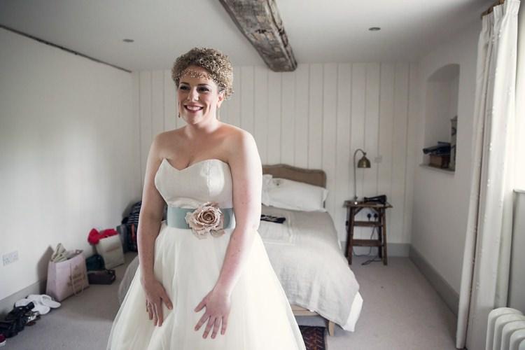Stephanie Allin Bardot Bride Bridal Gown Dress Eclectic Cool Barn Wedding http://assassynation.co.uk/