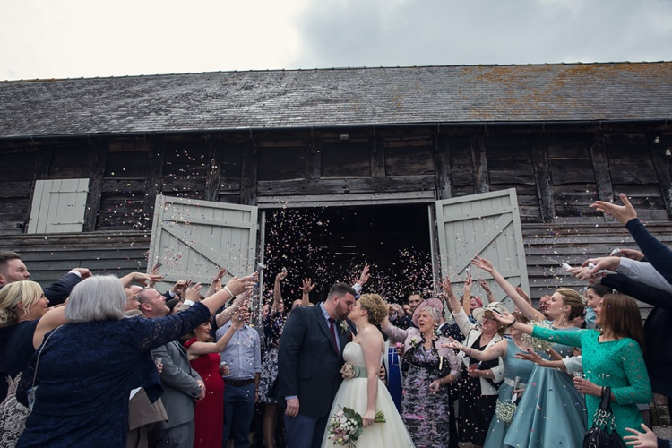 Confetti Throw Eclectic Cool Barn Wedding http://assassynation.co.uk/
