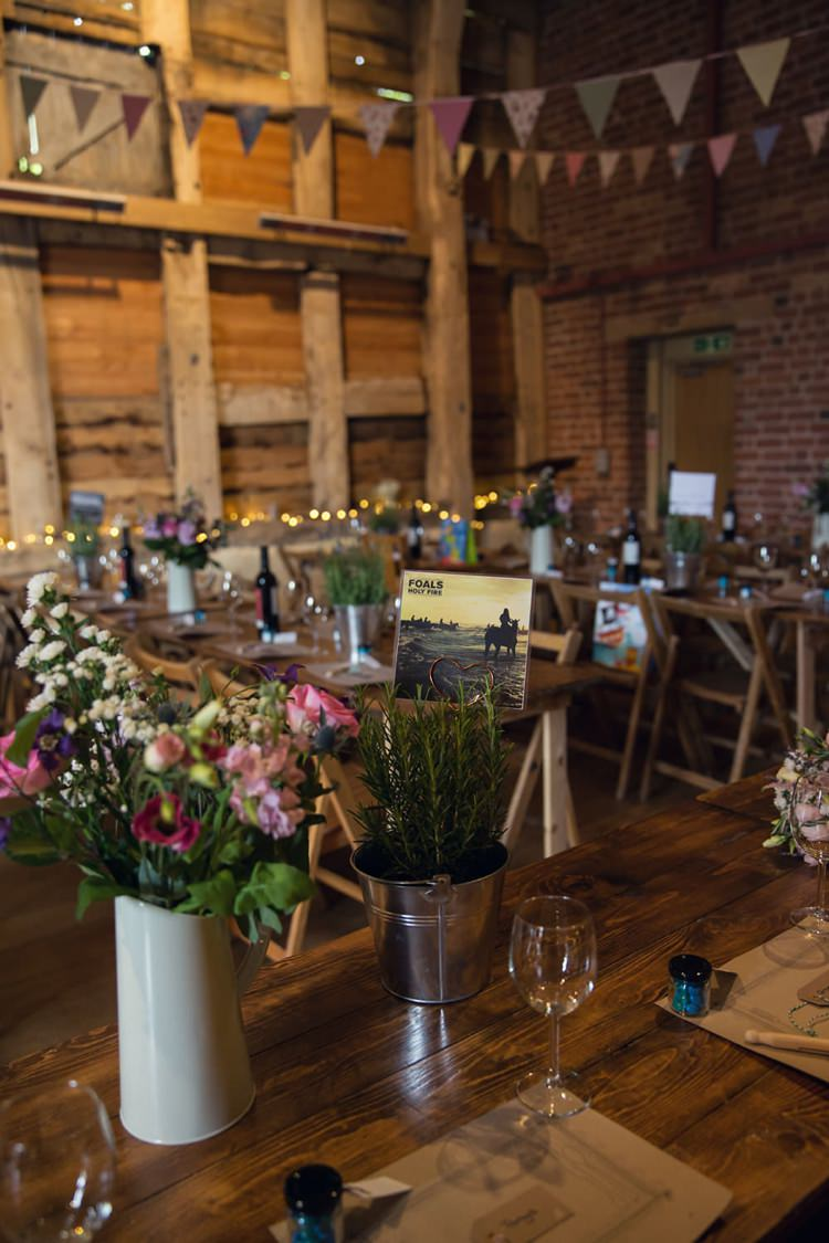 Flowers Potted Herbs Decor Centrepiece Eclectic Cool Barn Wedding http://assassynation.co.uk/
