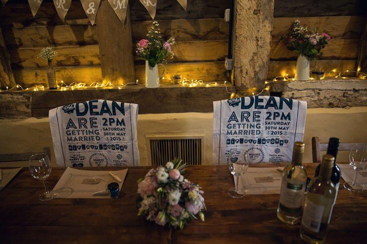 Tea Towel Invitations Eclectic Cool Barn Wedding http://assassynation.co.uk/