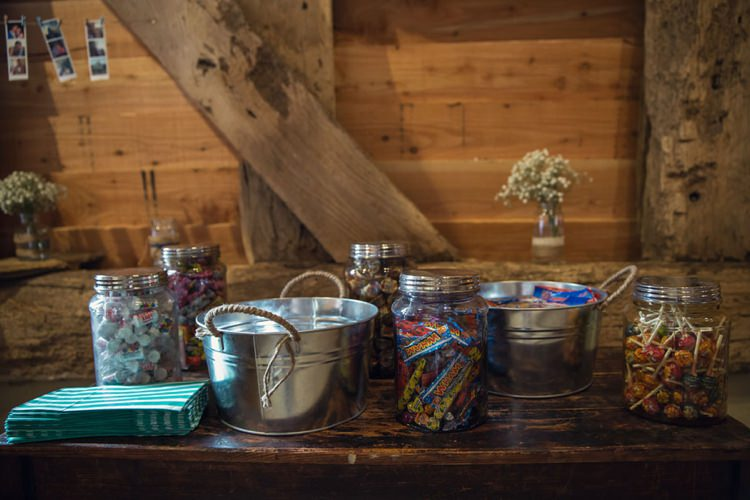 Sweet Table Bar Station Eclectic Cool Barn Wedding http://assassynation.co.uk/