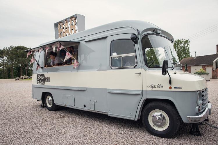 Bar Van Eclectic Cool Barn Wedding http://assassynation.co.uk/