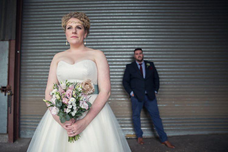 Stephanie Allin Bardot Bride Bridal Dress Gown Eclectic Cool Barn Wedding http://assassynation.co.uk/